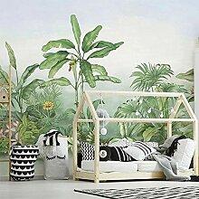 Wallpaper Wandbild Tapete 3D Handgemalte Pflanze