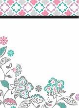 Wallpops Memoboard mit Blumen-Muster, selbstklebend, trocken abwischbar