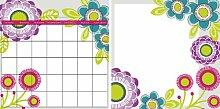 Wallpops Mohn Memoboard-/Kalender-Set, selbstklebend