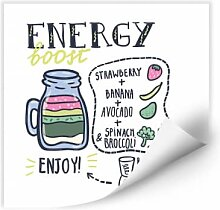Wallprints - Wallprint Energy Boost - quadratisch