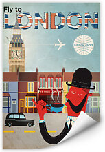 Wallprints - Wallprint PAN AM - Fly to London