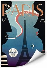 Wallprints - Wallprint PAN AM - Fly to Paris