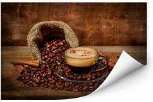 Wallprints - Wallprint Perfoncio - Kaffee rustikal