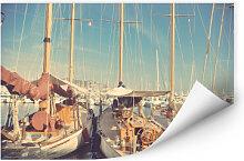 Wallprints - Wallprint Segelschiffe im Hafen