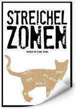 Wallprints - Wallprint Streichelzonen - Katze