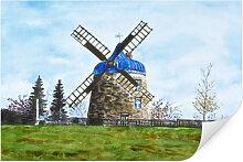 Wallprints - Wallprint Toetzke - Traditionelle Windmühle