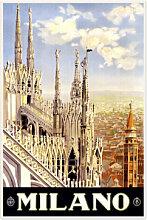 Wallprints - Wallprint Vintage Travel - Milano