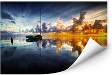 Wallprints - Wallprint Yugawa - Time for reflection