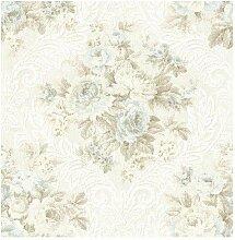 Wallquest–Tapete Blumen mit Stickerei gewebt aus Papier dm20702Documen