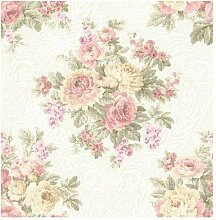 Wallquest–Tapete Vintage Floral dm20700Document mit Stickerei A rlievo Effekt Stoff