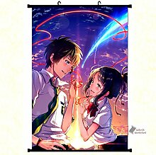 Wallscrolls-Wonderland Kimi No Na Wa Your Name Wallscroll Stoffposter Plakat Rollbild Tapete Dekoration Geschenk Anime Manga Home Design Wall Decoration Gift Present 60x90CM