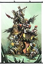 Wallscrolls-Wonderland Kingdom Hearts Wallscroll Stoffposter Plakat Rollbild Tapete Dekoration Geschenk Anime Manga Home Design Wall Decoration Gift Present 60x90CM