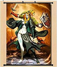 Wallscrolls-Wonderland Legend of Zelda Link Wallscroll Stoffposter Plakat Rollbild Tapete Dekoration Geschenk Anime Manga Home Design Wall Decoration Gift Present 60x90CM