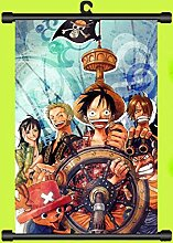 Wallscrolls-Wonderland One Piece Strawhats Pirates Wallscroll Stoffposter Plakat Rollbild Tapete Dekoration Geschenk Anime Manga Home Design Wall Decoration Gift Present 60x90CM