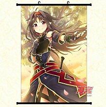 Wallscrolls-Wonderland Sword Art Online Wallscroll Stoffposter Plakat Rollbild Tapete Dekoration Geschenk Anime Manga Home Design Wall Decoration Gift Present 60x90CM