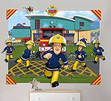 Walltastic 3D Pop-Out-Wanddekoration Fireman Sam