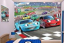 Walltastic 41721 Rennfahrer, Tapete, Wandbild, Paper, bunt, 52,5 x 7 x 18,5 cm