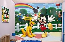 Walltastic 42056 Disney, Mickey Mouse Clubhouse, Tapete, Wandbild, Paper, bunt, 52,5 x 7 x 18,5 cm