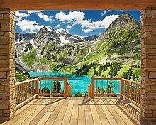Walltastic 43619 Alpen, Tapete, Wandbild, Paper, bunt, 12 x 7 x 52,5 cm