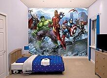 Walltastic 43848 Avengers Assemble, Tapete, Wandbild, Paper, bunt, 52,5 x 7 x 18,5 cm