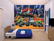 Walltastic 44524 Blaze and The Monster Machines, Tapete, Wandbild, Paper, Bunt, 52,5 x 7 x 18,5 cm