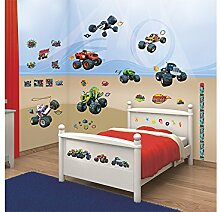 Walltastic 44548 Blaze and The Monster Machines, Kit zur Raumdekoration, Vinyl, Bunt, 37,5 x 8 x 18 cm