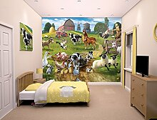 Walltastic WT4026 Farmyard Fun Designer Fototapete