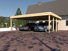 Walmdach SIEGERLAND IV Carport 700 x 700 cm Leimbinder Fichte
