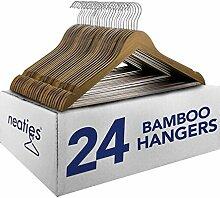 Walnuss Bambus Holz Kleiderbügel w/Kerben und
