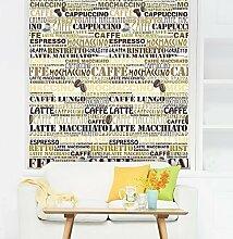 Walplus 255x 185cm Wand Aufkleber Cafeteria Wandbild Kunst Abziehbilder Vinyl Home Dekoration DIY Living Schlafzimmer Décor Tapete Kinder Zimmer Geschenk, mehrfarbig