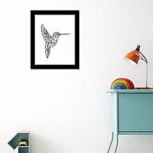 Walplus Bird Art Leinwand drucken Wand Aufkleber, Vinyl, Mehrfarbig, 40x 30x 5cm
