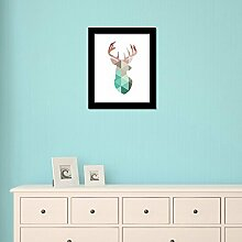 Walplus Elk Art Leinwand drucken Wand Aufkleber, Vinyl, Mehrfarbig, 40x 30x 5cm