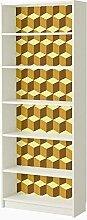 WALPLUS gelb 3D-Würfel Wandtattoo, Vinyl,