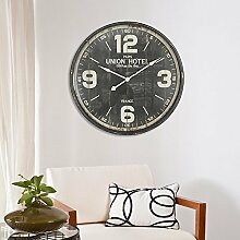 Walplus Große Weinlese-Metall Eisen Wanduhr Home Interior Decoration 90x90x8.5cm