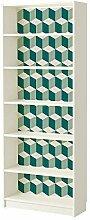 WALPLUS grün 3D Cubes Wandtattoo, Vinyl,