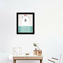 WALPLUS Hippo Art Leinwand drucken Wand Aufkleber,