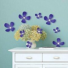 Walplus Kristall 3D Iris Blumen Wandsticker, Vinyl