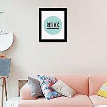 WALPLUS Relax Art Leinwand drucken Wand Aufkleber,