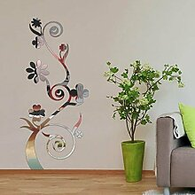 Walplus (TM) Home Interior Dekoration Blumen Wandtattoo Kinderzimmer, innen Reflection