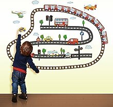 Walplus - Wand Kunst Aufkleber Kinderzimmer Transport Home Dekoration Abziehbild