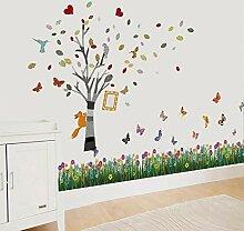 Walplus Wand Sticker Schmetterling Gras