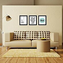Walplus Wandkunst Holzrahmen Einfach Buchstaben