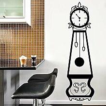 Walplus Wandsticker selbstklebend Wand Aufkleber Großvater Uhren Möbel Wandbild Kunst Abziehbilder Vinyl Home Dekoration DIY Living Schlafzimmer Dekor Tapete 54 x 190 cm, schwarz