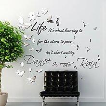 Walplus wsm205714Spiegel Schmetterlinge plus ws4003Dance in the Rain Art Wand, mehrfarbig
