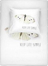 Walra Bettwäsche Keep Life Simple 135x200