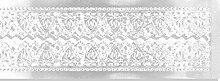 Walter Kunze Design Dresden Trim Grenze Herz Streifen, weiß, 7/8-inch