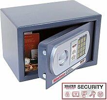 WALTER Möbeltresor mit elektronischem Zahlenschloss und Doppelbolzen-Sicherheitsschloss, 200x310x200 mm, 6,6 kg