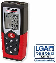 WALTER Werkzeuge 37363 Laser Distanz Messgerät, 1.5 V, Rot-Schwarz