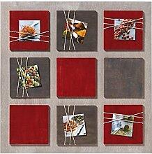 walther design Galerierahmen La Casa rot, für 6