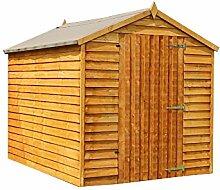 Waltons Geräteschuppen / Gartenhaus, aus Holz, Überfälzung, spitz zulaufendes Dach, 2,4x21,8m